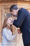 040118 Spanish Royals attend the Easter Mass at the Cathedral of Palma de Mallorca. Leave