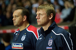 BIRMINGHAM, ENGLAND - Monday, October 13, 2008: England's manager Stuart Pearce during the UEFA European Under-21 Championship Play-Off 2nd Leg match against Wales at Villa Park. (Photo by Gareth Davies/Propaganda)