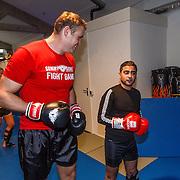NLD/Amsterdam\/20131025 -Kickboxclinic van Sem Schilt, met Danny Ghosen
