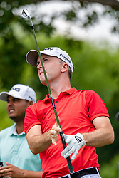 May 4, 2019 - Charlotte, NC, U.S. - CHARLOTTE, NC - MAY 04: Martin Laird hits from the 4th hole tee box during the third round of the Wells Fargo Championship at Quail Hollow on May 4, 2019 in Charlotte, NC. (Photo by William Howard/Icon Sportswire) (Credit Image: © William Howard/Icon SMI via ZUMA Press)