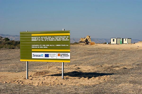 Spanje, Aragon, 26-5-2007Een project voor de ontwikkeling van irrigatie in de regio aragon, waarvoor subsidie van de eu is ontvangen moet nog vorm krijgen..Foto: Flip Franssen/Hollandse Hoogte