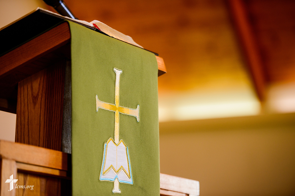 The pulpit at Ascension Lutheran Church, Landover Hills, Md, on Sunday, Aug. 6, 2017. LCMS Communications/Erik M. Lunsford