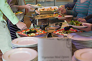 Lunch is served at the beginning of the Fritz J. and Dolores H. Russ College of Engineering and Technology Student Awards Banquet, hosted by Tau Beta Pi, the engineering honor society at Ohio University, on April 10, 2016. (Photo by Emily Matthews)