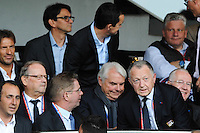 Jean Michel AULAS - 02.05.2015 - Lyon / Evian Thonon - 35eme journee de Ligue 1<br />