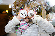 Repro Free: 10/11/2012.Cup Cake Girl!.Charlotte McCarthy (7) from Sandymount getting an eye of the birthday treats at the Butler's Pantry 25th Birthday celebrations this weekend..100% Irish owned and run, award winning purveyors of hand-made food, the Butler's Pantry celebrated their 25th Birthday this weekend. Pic Andres Poveda..For further information please contact : Ann-Marie Sheehan, Aspire PR, Telephone 087 298 5569 or email annmarie@aspire-pr.com