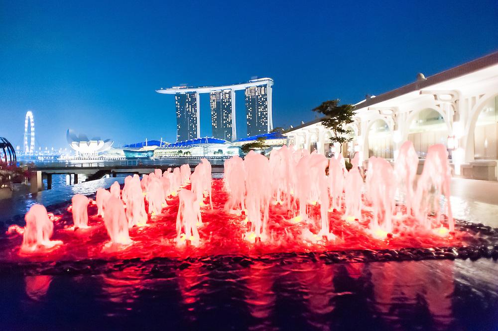 Marina Bay Sands Hotel at night (Singapore).