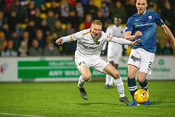 Livingston Chris Erskine brought down by Raith Rovers Michael Miller for their second penalty. Livingston 3 v 1 Raith Rovers, William Hill Scottish Cup played 18/1/2020 at the Livingston home ground, Tony Macaroni Arena.