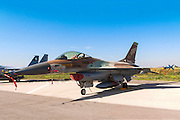 Israeli Air Force (IAF) F-16A (Netz) Fighter jet on the ground