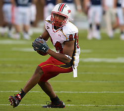 Maryland wide receiver Isaiah Williams (84) warms up against UVA.  The Virginia Cavaliers defeated the Maryland Terrapins 31-0 in NCAA football at Scott Stadium on the Grounds of the University of Virginia in Charlottesville, VA on October 4, 2008.