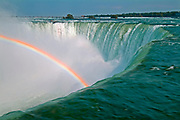 Niagara River at Niagara Falls with rainbow<br />NIagara Falls<br />Ontario<br />Canada