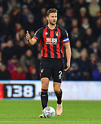 Simon Francis (2) of AFC Bournemouth during the EFL Cup 4th round match between Bournemouth and Norwich City at the Vitality Stadium, Bournemouth, England on 30 October 2018.