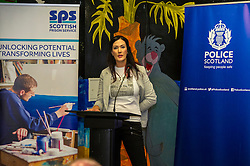 Pictured: Nicola Ceesay, HMP Edinburgh Visitor Centre<br /> A new booklet was created by a group of prisoners after a Meet the Police event revealed many prisoners' children thought the police had taken their parent from them. The leaflet was launched by Mark McDonald, MSP, Minister for Childcare and Early Years at Saughton Prison, Edinburgh. The minister was joined by Scottish Prison Service chief executive Colin McConnell, PC  Tracey Gunn, Prison Link Officer Police Scotland, Nicola Ceesay, HMP Edinburgh Visitot Centre  Richard Thomas, Superintendent Police Scotland and other senior police officers<br /> <br /> <br /> Ger Harley | EEm 22 August 2016