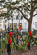 Christmas in historic Savannah, GA.