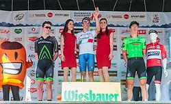 05.07.2017, Altheim, AUT, Ö-Tour, Österreich Radrundfahrt 2017, 3. Etappe von Wieselburg nach Altheim (226,2km), Siegerehrung, im Bild 2. Platz Jason Lowndes (AUS, Israel Cycling Academy), Etappensieger Elia Viviani (ITA, Nationale Italiana), 3. Platz Sep Vanmarcke (BEL, Cannondale Drapac Professional Cycling Team) // 2nd placed Jason Lowndes (AUS Israel Cycling Academy) Stage Winner Elia Viviani (ITA Nationale Italiana) 3rd placed Sep Vanmarcke (BEL Cannondale Drapac Professional Cycling Team) on podium during the 3rd stage from Wieselburg to Altheim (199,6km) of 2017 Tour of Austria. Altheim, Austria on 2017/07/05. EXPA Pictures © 2017, PhotoCredit: EXPA/ JFK