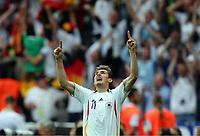 1:1 Jubel Miroslav Klose Deutschland<br /> Fussball WM 2006 Viertelfinale Deutschland - Argentinien<br /> Tyskland - Argentina<br /> Norway only