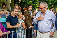 21-07-2017 Brussels Prince Laurent and Princes Claire and Prince Lorenz  visiting Waranderpark on the Belgian national day in Brussels.  ROBIN UTRECHT<br /> 21-07-2017 Brussel Prins Laurent en Prins Claire en Prins Lorenz bezoeken Waranderpark op de Belgische nationale dag in Brussel. ROBIN UTRECHT