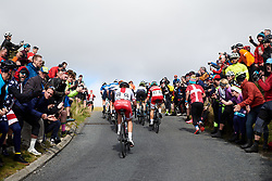 Kasia Niewiadoma (POL) approaches the top of the Lofthouse climb at UCI Road World Championships 2019 Women's Elite Road Race a 149.4 km road race from Bradford to Harrogate, United Kingdom on September 28, 2019. Photo by Sean Robinson/velofocus.com