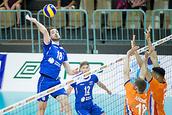 Dane Mijatovic of Slovenia during volleyball match between national teams of Slovenia and Netherlands of 2018 CEV volleyball Godlen European League, on June 6, 2018 in Arena Bonifika, Koper, Slovenia. Photo by Urban Urbanc / Sportida