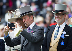 The Duke of Kent with his IPhone at Royal Ascot. Image ©Licensed to i-Images Picture Agency. 20/06/2014. Ascot, United Kingdom. Royal Ascot. Ascot Racecourse. Picture by i-Images