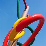 Needle and thread sculpture, Piazza Cadorna, Milan, Italy<br />