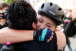 Lisa Klein (GER) celebrates the stage win with her Mum at Lotto Thüringen Ladies Tour 2019 - Stage 4, a 114.8 km road race in Gotha, Germany on May 31, 2019. Photo by Sean Robinson/velofocus.com