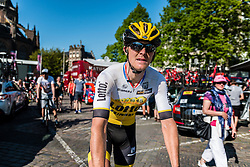 Rider of Team Lotto NL - Jumbo (NED), after the finish at the team buses in Arnhem, stage 3 from Nijmegen to Arnhem running 190 km of the 99th Giro d'Italia (UCI WorldTour), The Netherlands, 8 May 2016. Photo by Pim Nijland / PelotonPhotos.com   All photos usage must carry mandatory copyright credit (Peloton Photos   Pim Nijland)