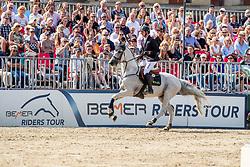 HASSMANN Felix (GER), CAYENNE WZ<br /> Münster - Turnier der Sieger 2019<br /> Grosser Preis von Münster <br /> BEMER Riders Tour Etappenwertung<br /> CSI4* - Int. Jumping competition over 2 rounds (1.60 m)<br /> 04. August 2019<br /> © www.sportfotos-lafrentz.de/Stefan Lafrentz
