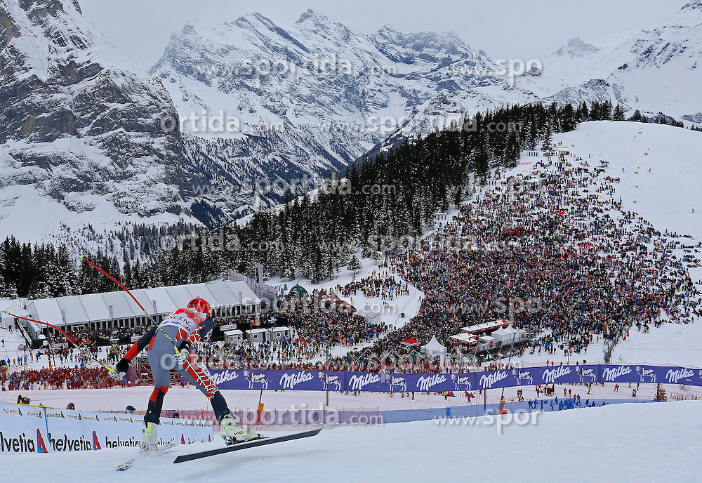 18.01.2014, Lauberhorn, Wengen, SUI, FIS Weltcup Ski Alpin, Wengen, Abfahrt, Herren, im Bild Bode Miller (USA) // in action during the downhill of the Wengen FIS Ski Alpine World Cup at the Lauberhorn in Wengen, Switzerland on 2014/01/18. EXPA Pictures &copy; 2014, PhotoCredit: EXPA/ Freshfocus/ Christian Pfander<br /> <br /> *****ATTENTION - for AUT, SLO, CRO, SRB, BIH, MAZ only*****