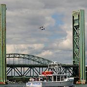 Blue Angels over Sarah Mildred Long Bridge, Portsmouth, NH
