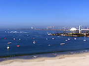 LONG BEACH, CA - JULY 08: The boat race to Catalina Island begins while watching and shooting at Paul Spinelli's beach condo in Long Beach, California on July 8, 2006. ©Paul Anthony Spinelli