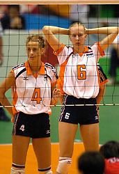 19-06-2000 JAP: OKT Volleybal 2000, Tokyo<br /> Nederland - Japan 1-3 / Erna Brinkman en Mirjam Orsel