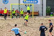 ALKMAAR - 12-11-2015, teamuitje, voetvolley, beachsoccer,