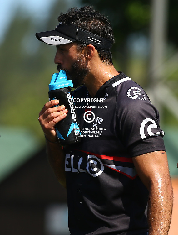 Clement Poitrenaud during The Cell C Sharks Pre Season training, session at Growthpoint Kings Park in Durban, South Africa. 16 February 2017(Photo by Steve Haag)<br /> <br /> images for social media must have consent from Steve Haag