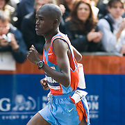 Kenyan James Kwambai, who finished fifth, competing in the 2007 New York City Marathon.  Photographed near the 26.1 mile marker.  The race was 26.2 miles long.