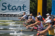 "Rio de Janeiro. BRAZIL.   GBR M2X. Semi Final A/B. bow, Jonny WALTON and John COLLINS. 2016 Olympic Rowing Regatta. Lagoa Stadium,<br /> Copacabana,  ""Olympic Summer Games""<br /> Rodrigo de Freitas Lagoon, Lagoa.   Tuesday  09/08/2016 <br /> <br /> [Mandatory Credit; Peter SPURRIER/Intersport Images]"