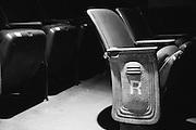 Closeup of seats in the Fox Fullerton theater.
