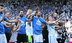Huddersfield Town players celebrate the end of the season with fans and their families - Mandatory by-line: Jack Phillips/JMP - 13/05/2018 - FOOTBALL - The John Smith's Stadium - Huddersfield, England - Huddersfield Town v Arsenal - English Premier League