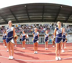 25.07.2010, Wetzlar Stadion, Wetzlar, GER, Football EM 2010, Team Sweden vs Team France, im Bild Cheerleader vor einer der Tribuenen,  EXPA Pictures © 2010, PhotoCredit: EXPA/ T. Haumer / SPORTIDA PHOTO AGENCY