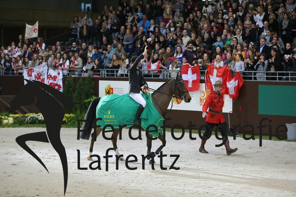 Guerdat, Steve;<br /> Cebulka, Pedro Nino des Buissonnets<br /> Genf - Rolex Grand Slam 2013<br /> Finale, Rolex Grand Slam<br /> © www.sportfotos-lafrentz.de / Stefan Lafrentz