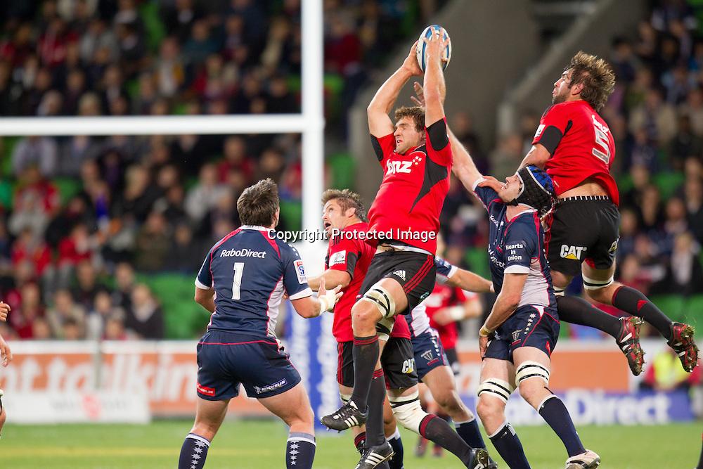 Super Rugby, Rebels v Crusaders, Melbourne 12 May 2012.<br /> Photo: Photosport.co.nz