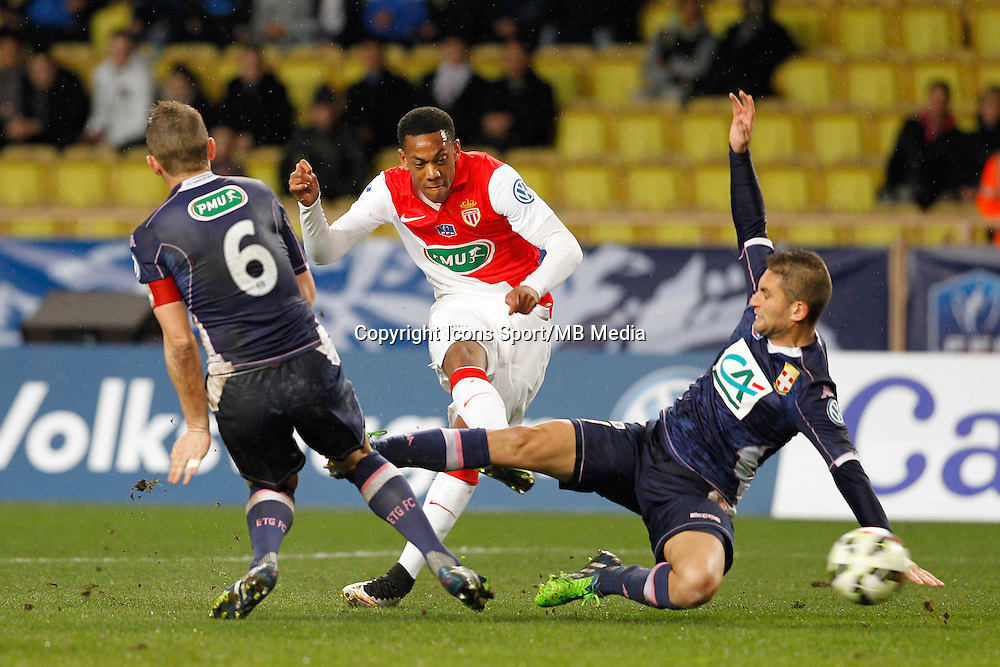 Anthony Martial / Olivier Sorlin / Cedric Cambon - 21.01.2015 - Monaco / Evian Thonon - Coupe de France <br />