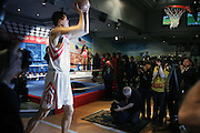 Yao Ming at the Yao Ming, Basket Ball 'Biggest Star ' Unveilng - In Wax - For the first time in the U.S. and welcomed by a troupe of Chinese Acrobats Performing a gravity-defying gymnastic Slam Dunk at Madame Tussauds New York...