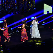 Harpz Kaur preforms at the BritAsiaTV Presents Kuflink Punjabi Film Awards 2019 at Grosvenor House, Park Lane, London,United Kingdom. 30 March 2019