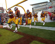 September 3, 2009: Iowa State takes the field before the first half of the Iowa State Cyclones' 34-17 win over the North Dakota State Bison at Jack Trice Stadium in Ames, Iowa on September 3, 2009.