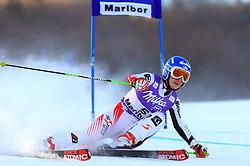 Kathrin Zettel of Austria skiing in first run of Maribor women giant slalom race of Audi FIS Ski World Cup 2008-09, in Maribor, Slovenia, on January 10, 2009. (Photo by Vid Ponikvar / Sportida)