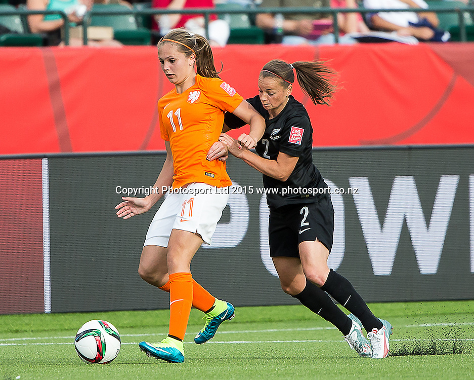 Lieke Martens. Edmonton, Alberta, Canada, June 6, 2015.  The opening day of the Women's World Cup at Commonwealth Stadium.  New Zealand was defeated by Netherlands 1-0.