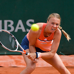 Anett Kontaveit of Estonia during Day 7 of the French Open 2018 on June 2, 2018 in Paris, France. (Photo by Baptiste Fernandez/Icon Sport)