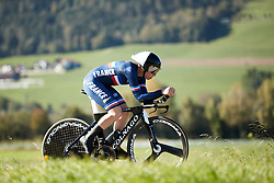 Audrey Cordon-Ragot (FRA) at UCI Road World Championships 2018 - Elite Women's ITT, a 27.7 km individual time trial in Innsbruck, Austria on September 25, 2018. Photo by Chris Auld/velofocus.com