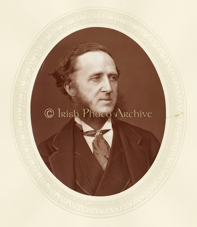 'Dudley Francis Stuart Ryder (1831-1900) c1880,  3rd Earl of Harrowby, known as Viscount Sandon before he inherited his title1882.  English Conservative politician, largely responsible for the Education Act of 1876.'