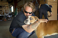 Chris Burkhadt aka The Canned Ham Man, runs a vintage trailer restoration company in Riverside California and his dog Betty Boo.